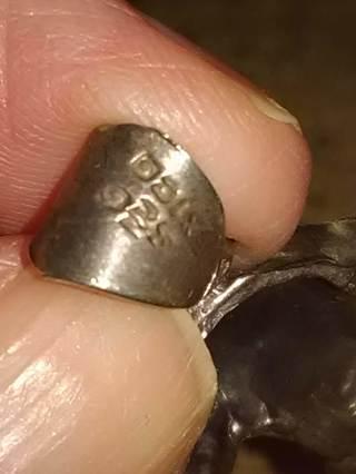 Vintage sterling silver horse head pendant