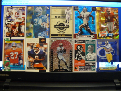 (10) Football Cards Stars, HOFers, Serial #'d or Inserts - LOT 8 - Read Details