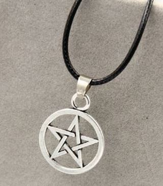 1 Pentagram Pentacle Pendant Necklace Pentagram witch wicca wican pagan witch celtic Gothic