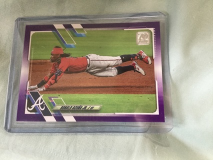 2021 Topps Ronald Acuña Jr purple Meijer eclusive