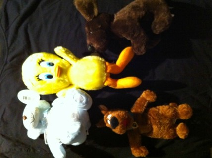 Scooby Doo, Tweety Bird, Plush Bear
