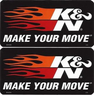 2 K&N Performance Filters Stickers ~~ Flames