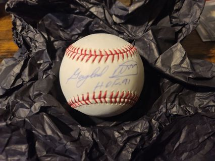 Gaylord Perry autograph baseball HOF 91 inscription San Francisco Giants and others....