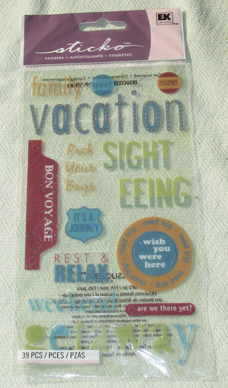 Vacation Word Stickers by Sticko - 39 pcs - Scrapbooking Supplies
