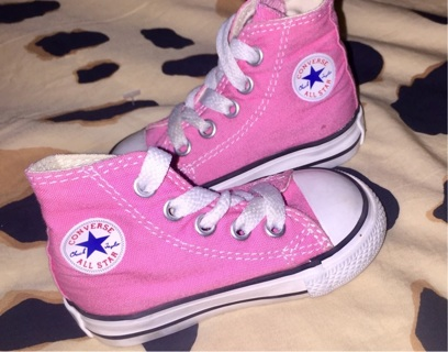 BABY GIRL PINK INFANT CONVERSE SHOES