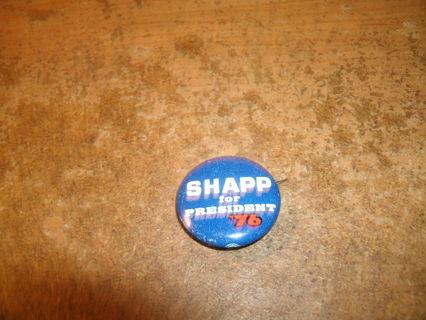 vintage 1976 milton shapp for president pinback metal campaign button-vg-