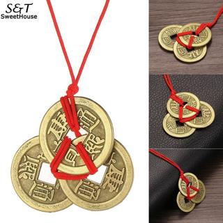 FANALA Lucky Necklaces Emperor Amulet Wealth Coins For Brass Money Coin Collection Necklace Jewelr