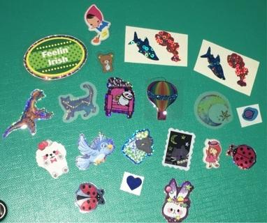 Lot of Random Small Stickers / Sticker Flakes