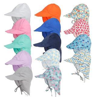 Summer Baby Sun Hat Children Outdoor Neck Ear Cover Anti UV Protection Beach Caps Kids Boy Girl Sw