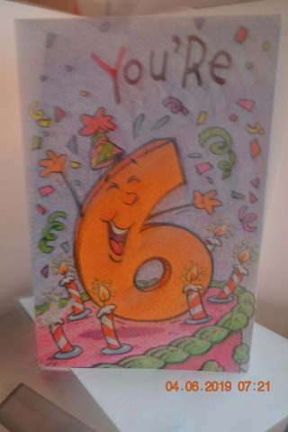 ****FOR 6 YR OLD BIRTHDAY CARD W/ENVELOPE***FREE SHIPPING