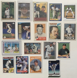 New York Yankees Rookies, HOFers, and All-Stars 1970s to 2000s Baseball Cards Lot of 18