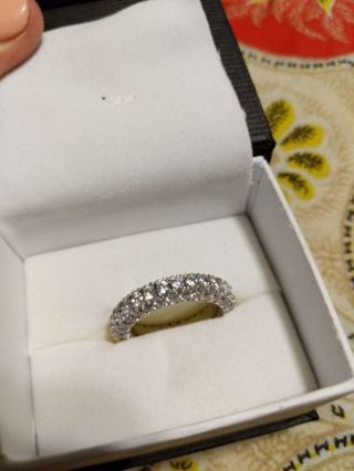 Beautiful cubic zirconia ring 7.5 7 1/2 new in box