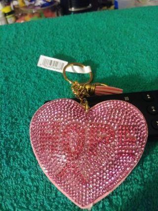 "❤✨❤✨❤BRAND NEW PINK HEART RHINESTONE BREAST CANCER AWARENESS ""HOPE"" KEYCHAIN❤✨❤✨❤"