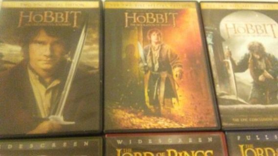The entire Hobbit and Lord of the Rings collection