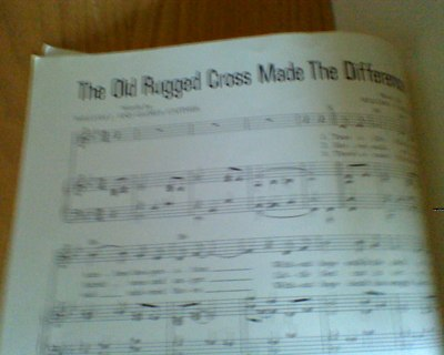 Free Sheet Music The Old Rugged Cross Made Difference