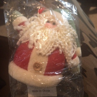 BNWT: Hanging Santa Claus  Ornament (Plush)