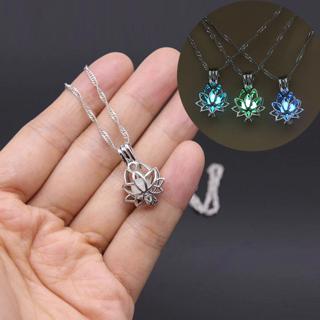 ✿Free Shipping✿ Dark Moon Lotus Flower Shaped Pendant Necklace x1pc