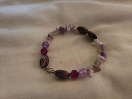 Beautiful Handmade Amethyst Bracelet