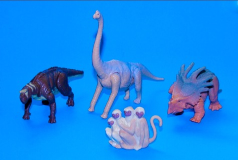 Disney Dinosaur Movie Figurines ~ Baylee Bruton Eema & The Monkeys