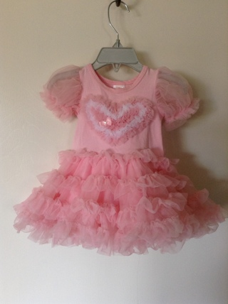 lovely pink girl dress size 12 months / 1T