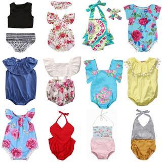 Toddler Newborn Baby Girl Floral Romper Bodysuit Jumpsuit Outfit Sunsuit Clothes