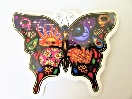 LIQUID BLUE BUTTERFLY Vinyl Sticker- Helmet/Car/Skateboard/Business/Crafts