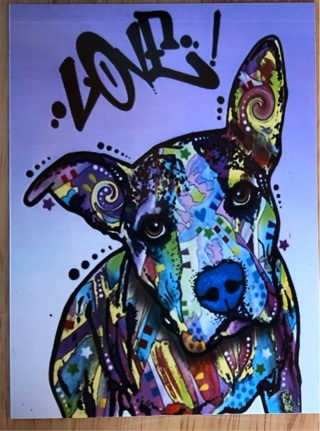 "LOVE! Dog - 4 x 5"" MAGNET"