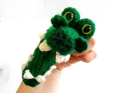 Free: Crochet Alligator Finger Puppet Pattern - Crochet - Listia.com ...