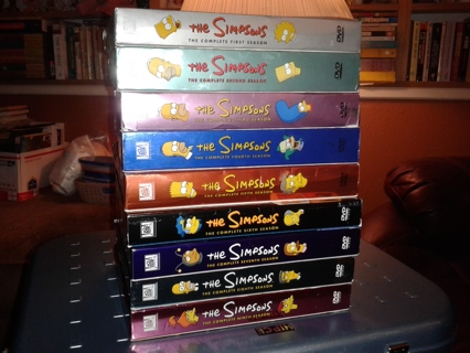 The Simpsons Seasons 1-9 DVD collection