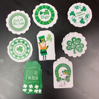 Lot of 40 Assorted St Patrick's Day Paper Tags