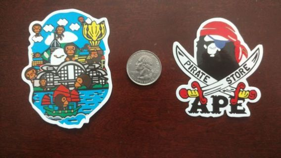 Laptop skateboard large age Gorilla stickers, x large brand aape Pepsi can