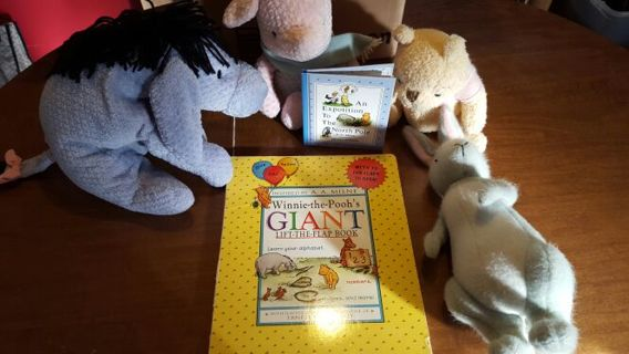 HUGE VALUE! Disney! Eeyore, Piglet, Pooh and Rabbit! WINNER GETS ALL!