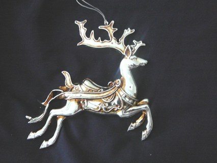 Vintage Beautiful Leaping Deer Ornament (6 inches long and tall)
