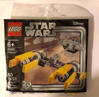 New Lego Star Wars Disney 20th Anniversary Series Polybag #30461 60pcs Podracer
