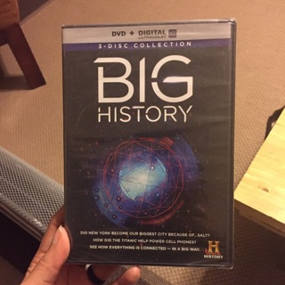 3 DVD set Big History narrated by Bryan Cranston!