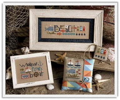 "Lizzie Kate ""Red, White & Beach"" Cross Stitch Leaflet"