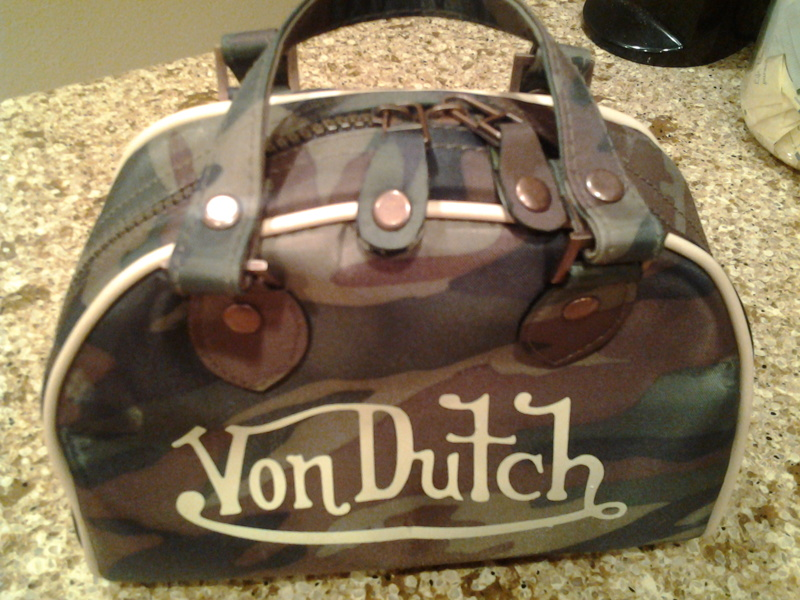 Free New Von Dutch Bowling Bag Style Purse Make Up Ship With Gin Only Handbags Listia Auctions For Stuff