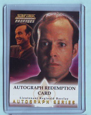 RARE 2000 Star Trek TNG Profiles Dwight Schultz AUTOGRAPH REDEMPTION CARD