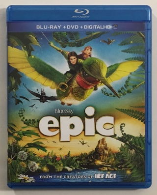 Epic Blu-ray / DVD 2-Disc Combo Movie with Case and Artwork - NM to Mint Discs!