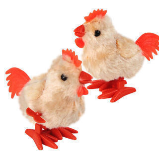 1PC Funny Plush Clockwork Toy Wind Up Walking Rooster Toy For Children Kids Gift