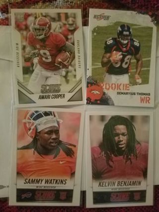 NFL WR Rookie Card Lot