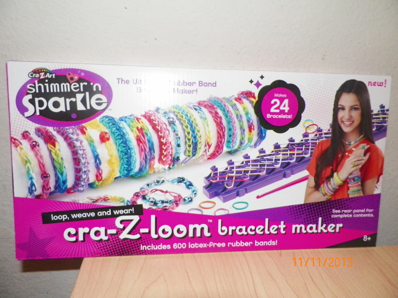 Free Cra Z Loom Shimmer N Sparkle Rainbow Bracelet Maker Makes 24 With 600 Rubber Bands Other Craft Items Listia Com Auctions For Stuff