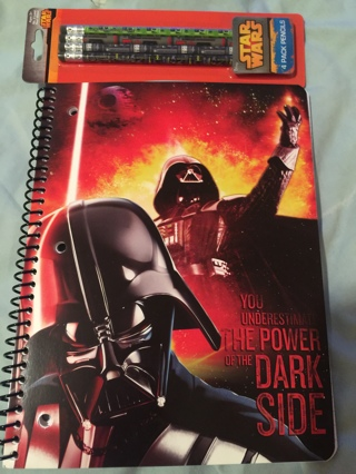 Star Wars Notebook and Pencils