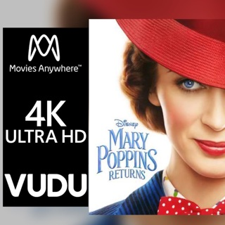 MARY POPPINS RETURNS 4K MOVIES ANYWHERE CODE ONLY