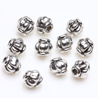 50Pc Vintage Tibetan Silver Spacer Bead Lantern Shape Jewelry Making Craft 4mm