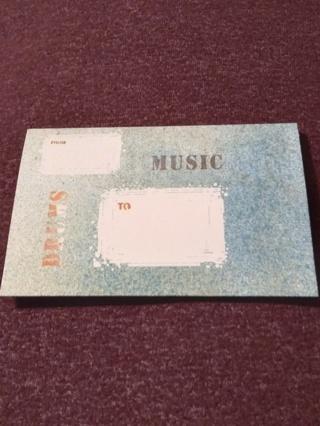 Folding Postcard - Music