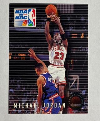 Michael Jordan 1993-94 Skybox Premium NBA on NBC card #14