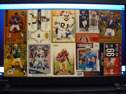 (10) Football Cards Stars, HOFers, Serial #'d or Inserts - LOT 3 - Read Details