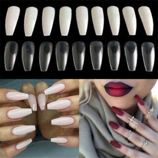 100/600Pcs Beauty Full Cover False Ballerina Nails Coffin Shape Nail Art Tips