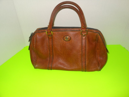 Women S Goldpfeil Caracciola Leather Purse West Germany Dark Tan Zip 1ft Wide By 7 Inches Tall